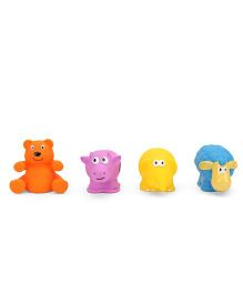 Giggles Animal Shaped Squeaky Bath Toys Pack Of 4 - Multi Color