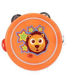 Speedage Rocking Star Lion Face Print Dafli - Orange