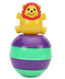 Ratnas Baby Touch Roly Poly Lion - Purple Green