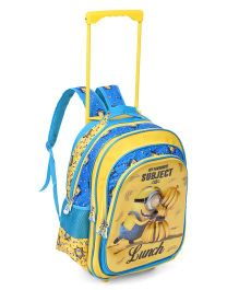 Minions Favorite Subject Trolley School Bag Yellow and Blue - 18 inches