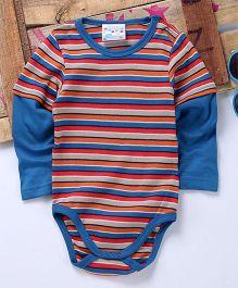 Eimoie Doctor Sleeves Striped Onesie - Blue & Multicolour