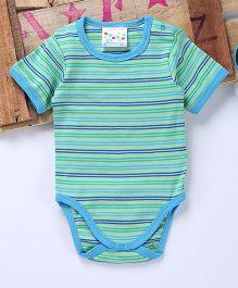 Eimoie Multi Horizontal Striped Onesie - Blue & Seagreen