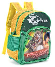 Jungle Book School Bag Green Yellow - 12 inches