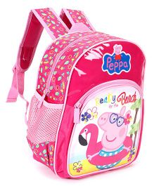 Peppa Pig School Bag Pink - Height 12 Inches