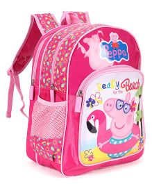 Peppa Pig School Bag Pink - Height 14 Inches