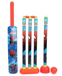 Marvel Spider Man 4 Wicket Cricket Set - Blue And Red