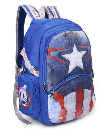 Marvel Captain America School Bag Blue - 19 Inch