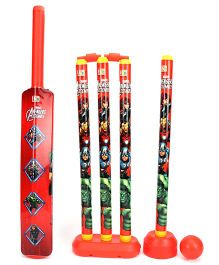 Marvel Avengers 4 Wicket Cricket Set - Red