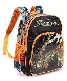 Jungle Book School Bag Black Orange - 16 inches