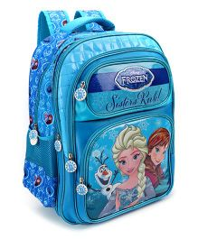 Disney Frozen Sister Rule School Bag Blue - Height 18 Inches