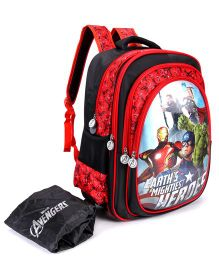 Marvel Avengers Heros School Bag Red Blacl - 14 inches