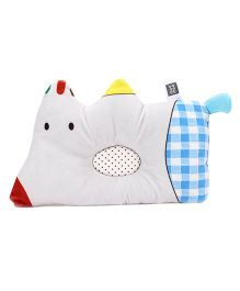 Mee Mee Pillow Dog Shape - Off White And Blue