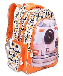 Disney Star Wars School Bag Orange & White - 16 inches