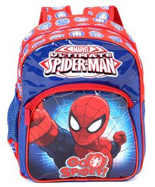 Marvel Spiderman School Bag Blue & Red - 12 inches