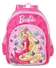 Barbie Butterfly School Bag Pink - 16 inches
