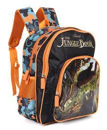 Jungle Book School Bag Blacl & Orange - 14 inches