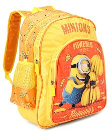 Minions Kevin with Banana School Bag Yellow Orange - 16 inches