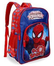 Marvel Spiderman School Bag Blue And Red - 18 Inches