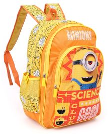 Minions Science Geek School Bag Orange - 18 inches