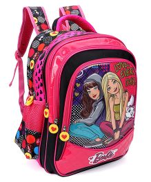 Barbie And Blissa School Bag Pink & Black - 16 inches