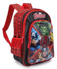Marvel Avengers School Bag Red & Black 18 inches