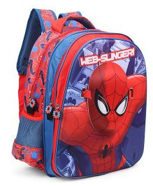 Spider Man With Face Mask School Bag Red - 16 inches