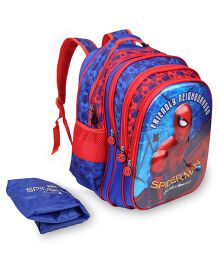Marvel Spiderman Homecoming School Bag With Cover Red & Blue - 16 inches