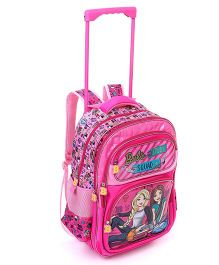 Barbie Squad School Trolley Bag Pink - Height 16 Inches