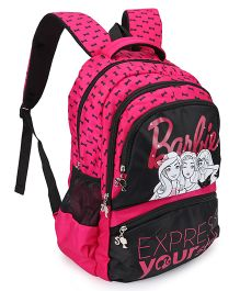 Barbie Style School Bag Black And Pink - 19 Inch