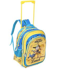 Minions Favourite Subject Trolley School Bag Yellow and Blue - 16 inches