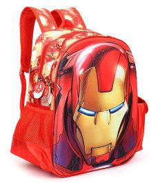 Marvel Iron Man School Bag Red - 14 inches