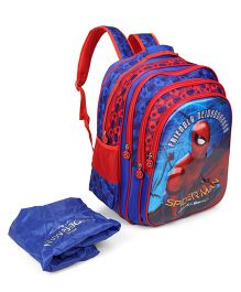 Marvel Spiderman Homecoming Blue School With Cover Bag Red & Blue - 18 inches