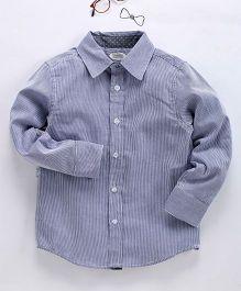 Frenchie Stripes Shirt - Blue