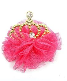 Pikaboo Tulle Crown Clip - Rose Pink