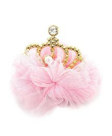 Pikaboo Tulle Crown Clip - Baby Pink