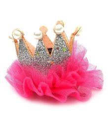 Pikaboo Pearl Studded Crown Clip - Silver