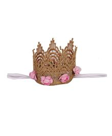 Pikaboo Lace Crown Headband - Baby Pink