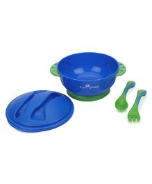 1st Step Feeding Bowl with fork and Spoon - Blue