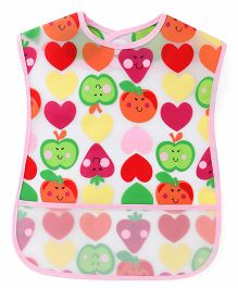 1st Step Heart Print PVC Bib - Multi Color