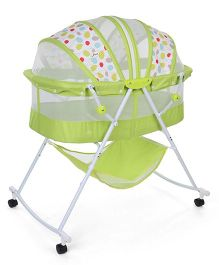 1st Step Bassinet Polka Print - Green