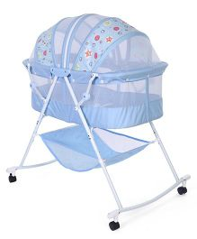 1st Step Bassinet Polka Print - Blue