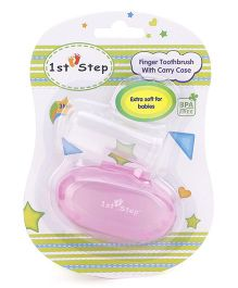 1st Step Finger Toothbrush With Carry Case - Pink