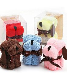 Kidslounge Dog Shaped Gift Towels 4 Pieces - Multicolor