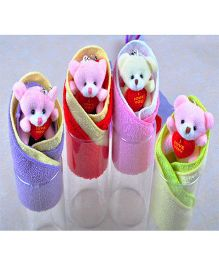 Kidslounge Teddy In A Box Gift Towel 2 Pieces- Multicolor