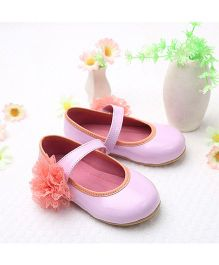 LCL By Walkinlifestyle Mary Jane Shoes Floral Applique - Pink