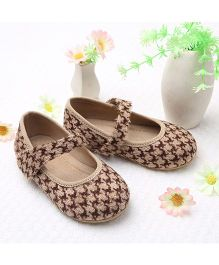 LCL By Walkinlifestyle Mary Jane Shoes - Beige & Brown