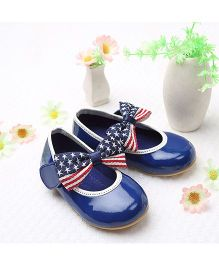 LCL By Walkinlifestyle Mary Jane Shoes Bow Applique - Royal Blue