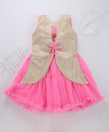 Mukaam Jacket Style Dress For Girls - Pink