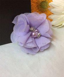 Angel Closet Chiffon Flower Hair Clip - Lavender