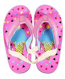 Kidofy Ice Cream Printed Flip Flops - Pink